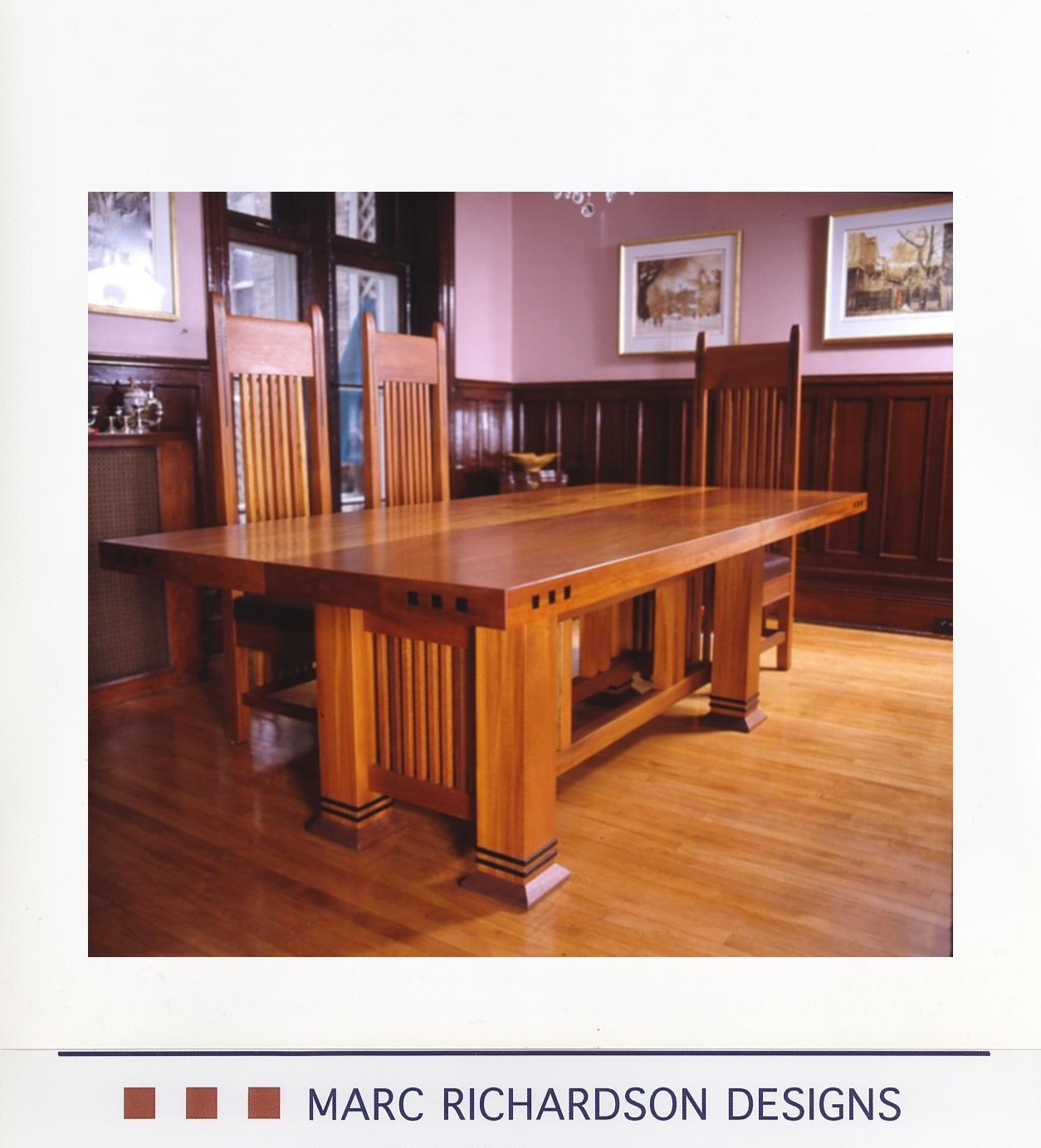 Dining Table And Chairs In Solid Mahogany Woodone Of A Kind Custom Made Furniture One Of A